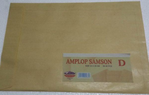 Amplop Coklat Samson Garis